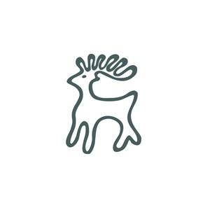 旅游行业麋鹿图标logo标志