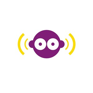 设计传媒人脸信号传输logo标志