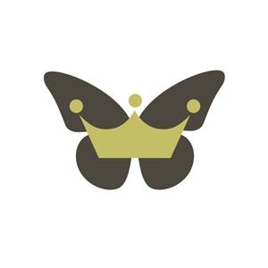 电子机械行业蝴蝶皇冠logo标志
