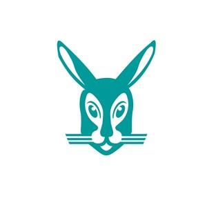 小兔子运动休闲logo设计