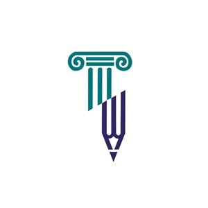 教育机构笔logo标志设计