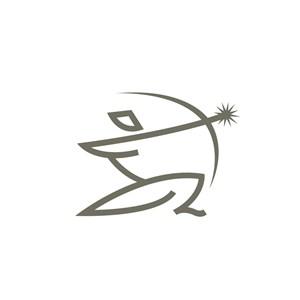 运动休闲行业射击logo标志