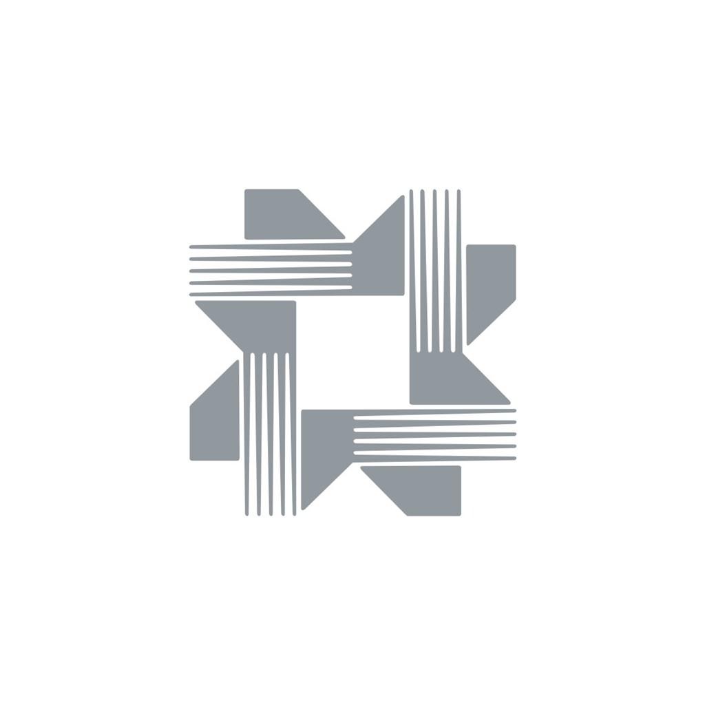 电子机械花型logo标志
