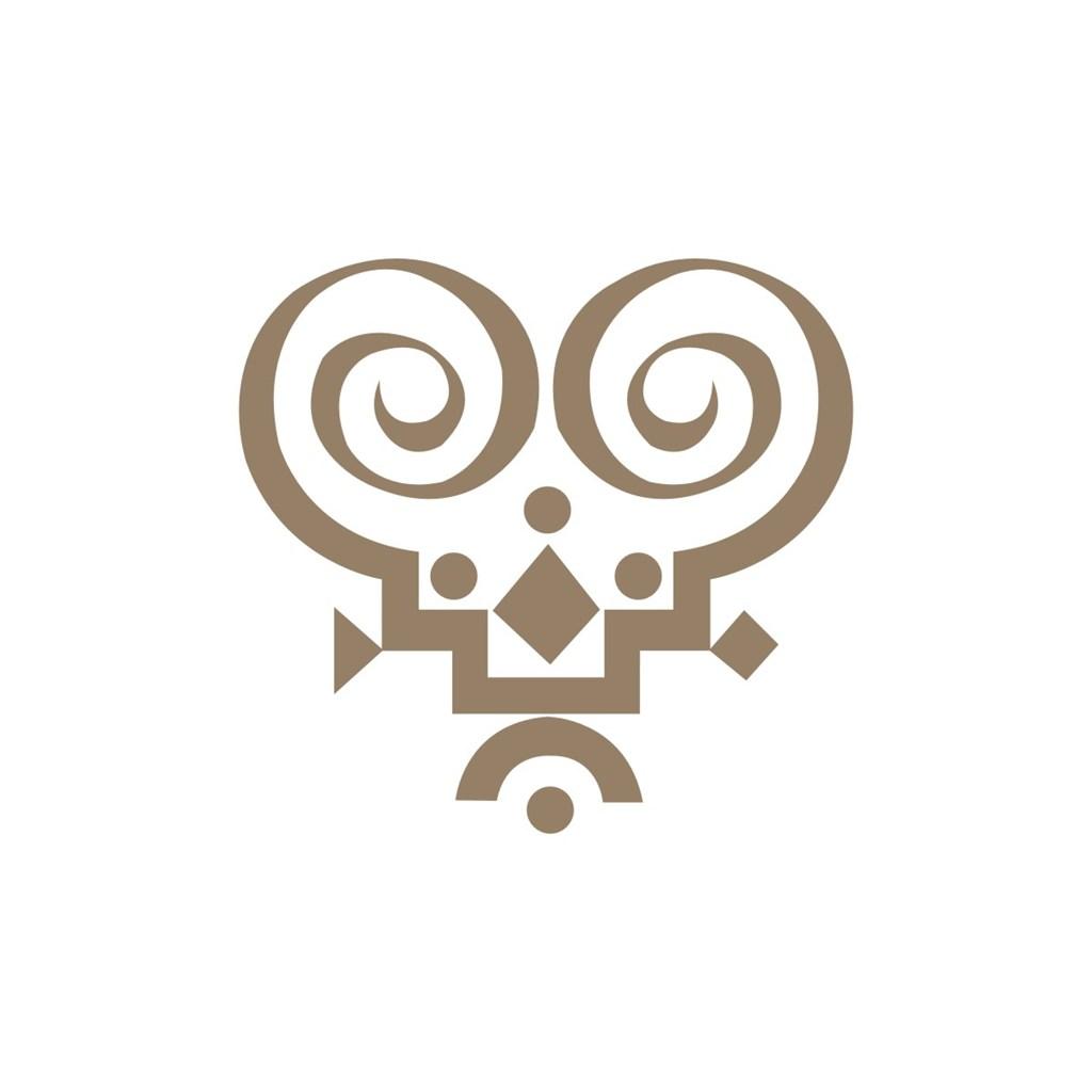 电子机械纹样logo标志