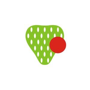 草莓食品公司LOGO图标素材