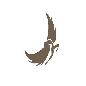 展翅的女人图标设计素材