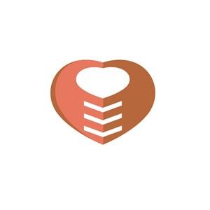 呵护爱心标志图案设计
