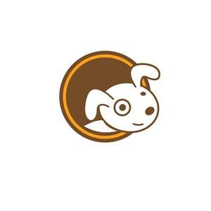 白狗卡通标志设计