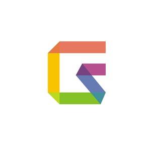 科技公司G英文字母LOGO设计素材