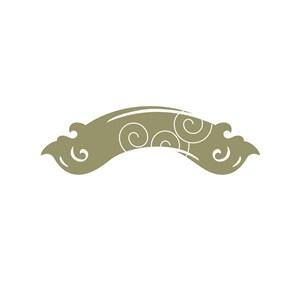 古典花纹logo设计素材