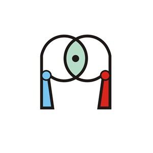 服饰店P英文字母标志设计素材