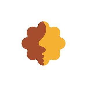 人脸拼接图案logo设计