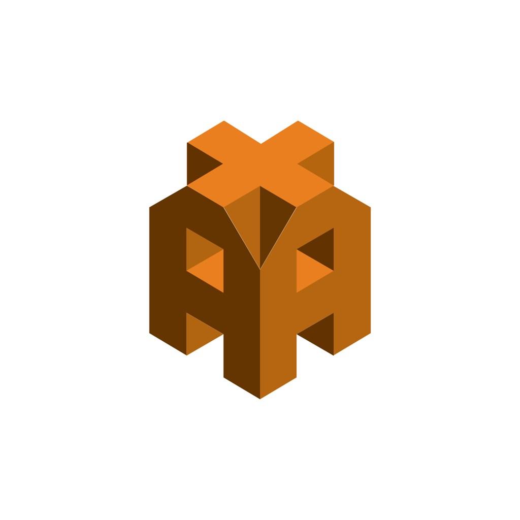 立体抽象建筑标志logo设计