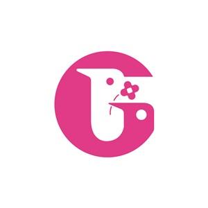 美容行业G字鸟头logo标志