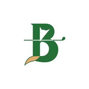 运动休闲高尔夫B字logo标志