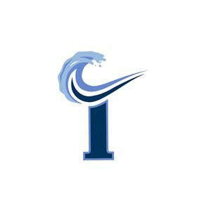 水上冲浪I字logo标志