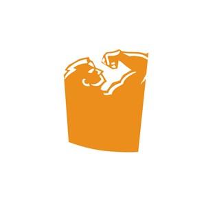 运动健身房男人狮子肌肉logo标志