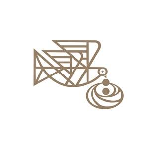 家居行业鸟叼食物喂食logo标志