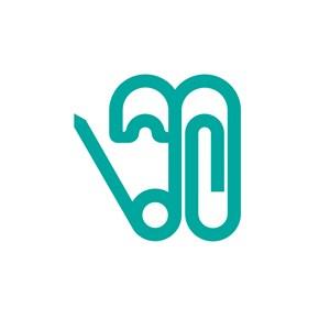 服饰行业别针logo标志