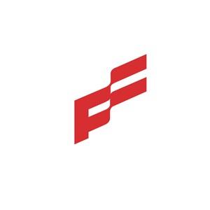 商务贸易旗帜logo标志