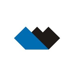 电子机械简约锯齿重叠logo