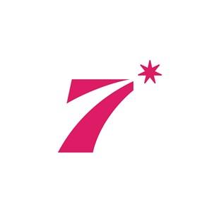 商务贸易7字logo标志