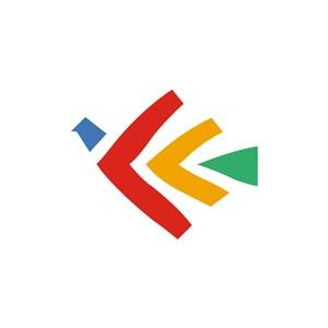 运动休闲行业鲜艳箭头logo标志