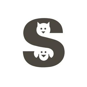 宠物店猫狗logo标志