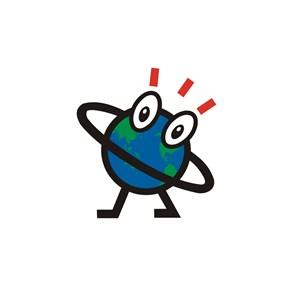 教育培训机构地球卡通logo标志