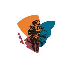 女神图案美容医疗logo