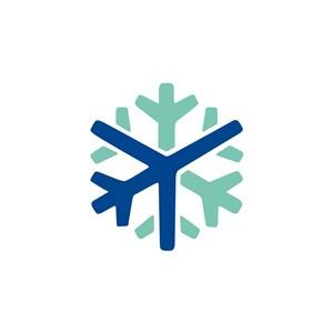 雪花飞机航空公司logo