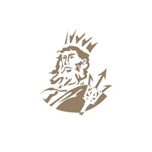 酒店旅游国外帝王人物logo标志
