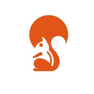 服饰时尚松鼠logo标志