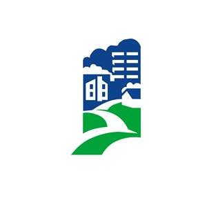 酒店旅游建筑山路风景logo标志