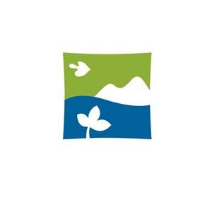 旅游行业山水花鸟logo标志
