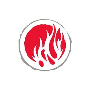 服饰时尚业火焰logo标志