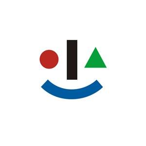 儿童培训机构笑脸logo标志