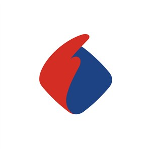 商務貿易簡約翅膀logo標志