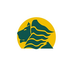 酒店旅游行業獅子logo標志