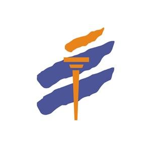 运动会火炬logo标志