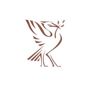 服饰时尚行业站立的鸟logo标志