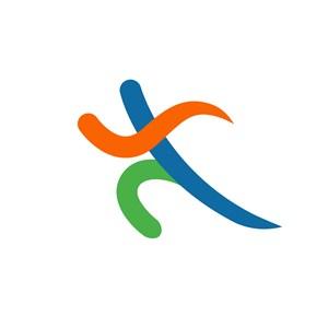 运动休闲行业跑步logo标志