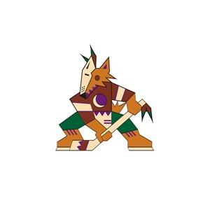 运动休闲业狼打冰球logo标志