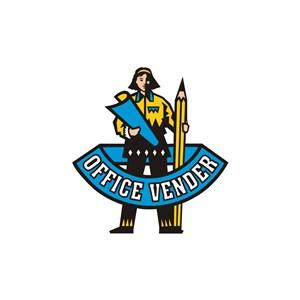 教育培训机构拿着笔的人物logo标志