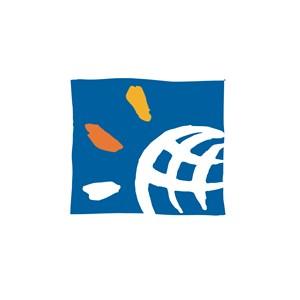 网络科技行业地球logo标志