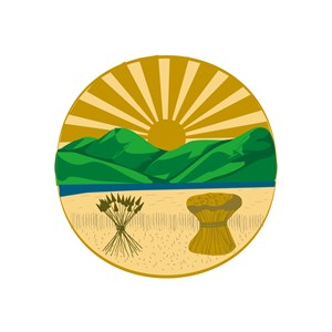娱乐休闲农家乐太阳山麦田logo标志