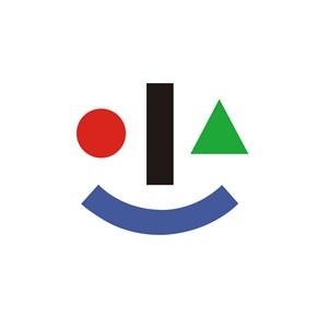 儿童幼教笑脸logo标志
