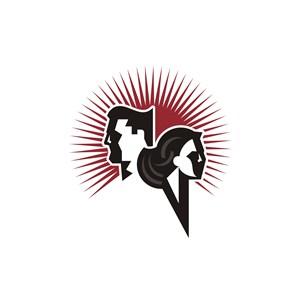 设计传媒男女头像logo标志