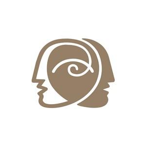 设计传媒侧脸人头部logo标志