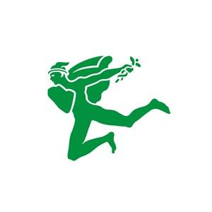 运动休闲行业诙谐人物logo标志